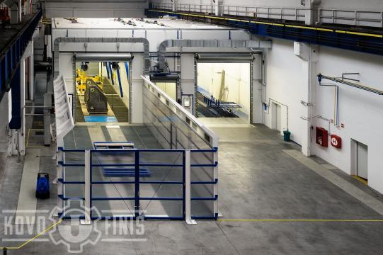Paint coating booth for steel frames