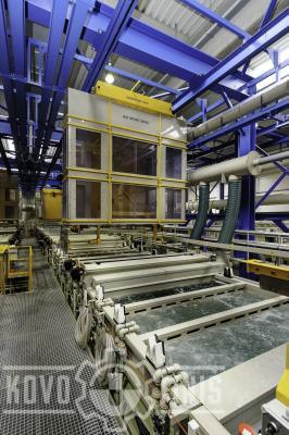 Rack line with exhausted conveyors