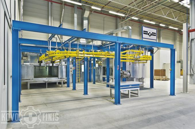 Paint coating line for compressors
