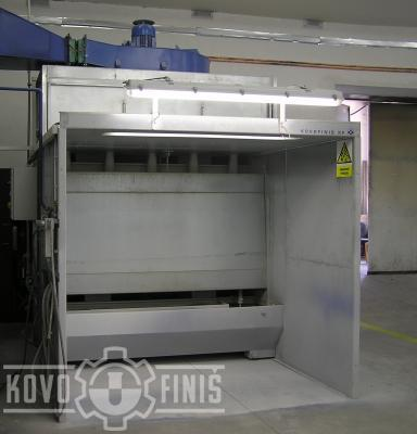 Paint coating box with wet separation system