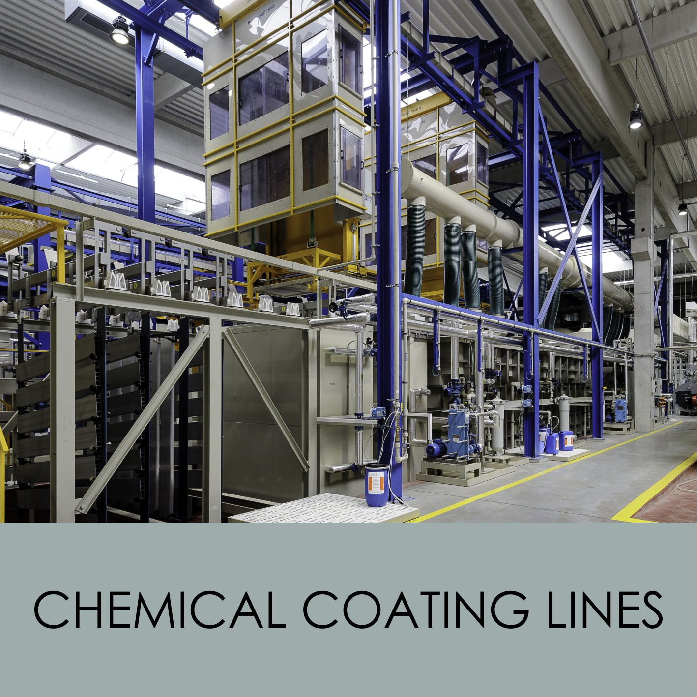 Chemical coating lines